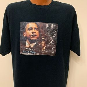 Barack Obama 2009 Change is here Graphic T-shirt.